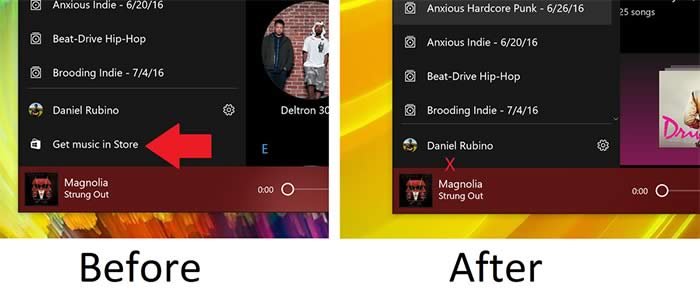 Groove Music store