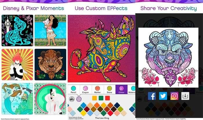 Disney launches coloring app