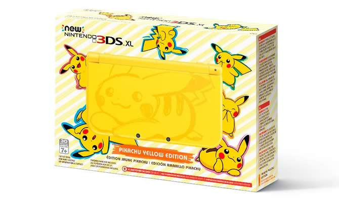 Nintendo 3DS XL Edition Yellow Pikachu
