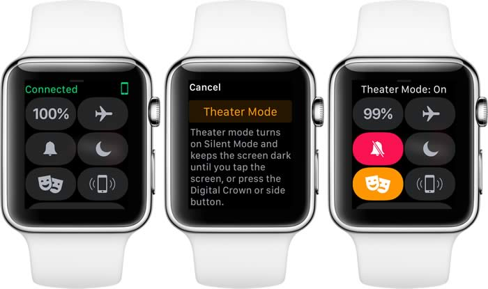 theater mode watchos 3.2