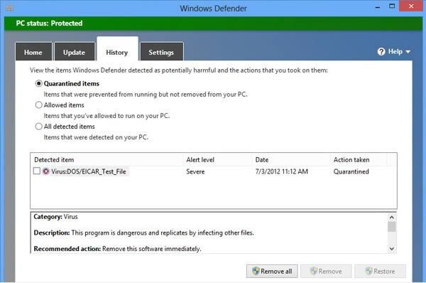 disable third party antivirus