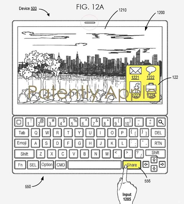 Apple keyboard 2 patent