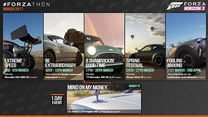 'Forza Horizon 3' Forzathon events