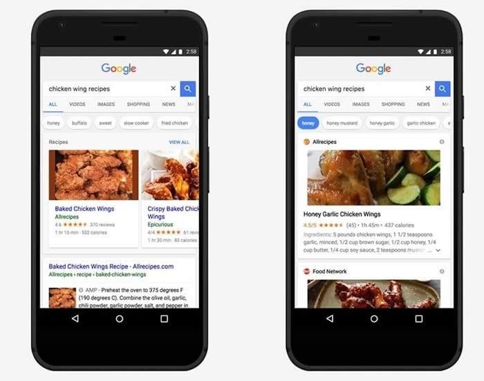 Google app recipe