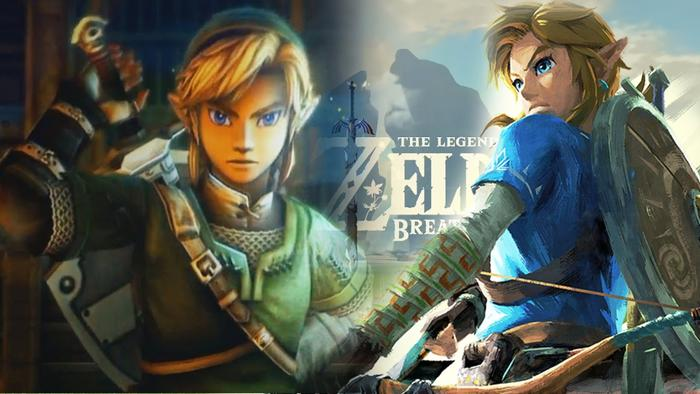 Link in Zelda Breath of the Wild