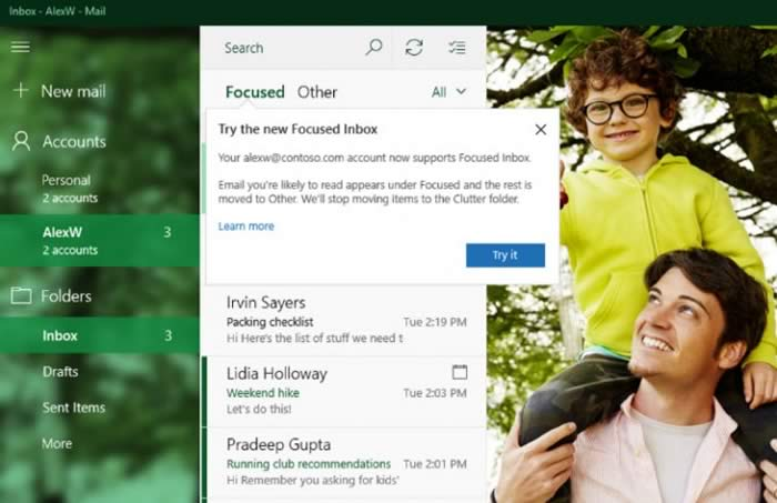 Microsoft updates the Mail and Calendar