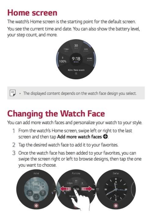LG watch sport guide