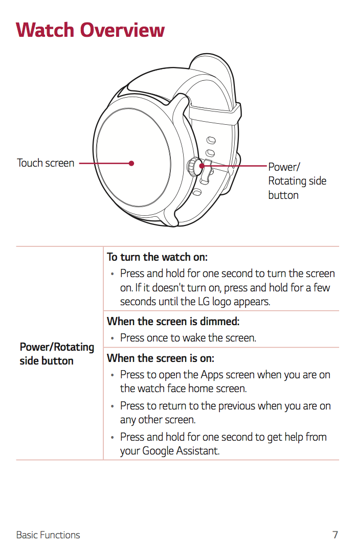 lg watch style guide
