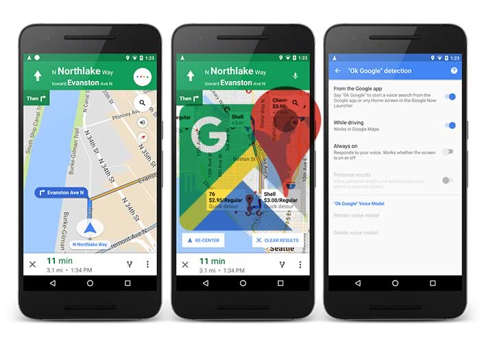 new Google Maps version
