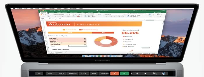 office for macbook adds support for touch bar