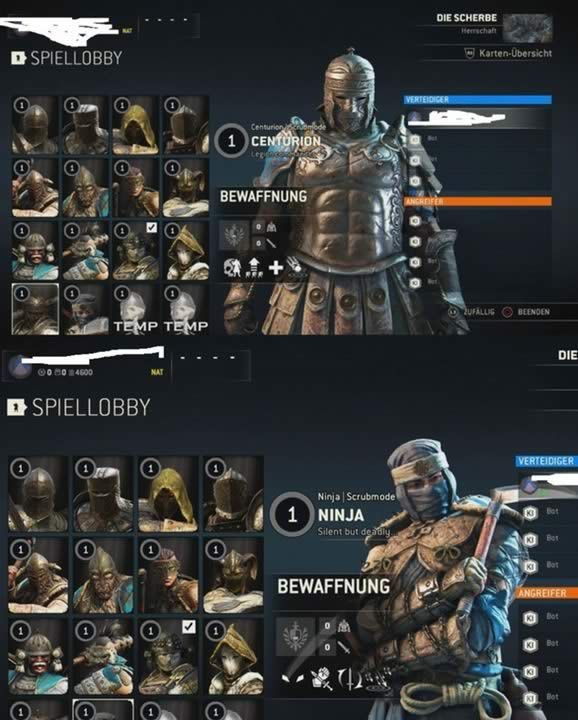 the Ninja and the Centurion in For Honor