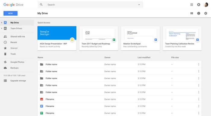 Quick Access now reaches all Drive users
