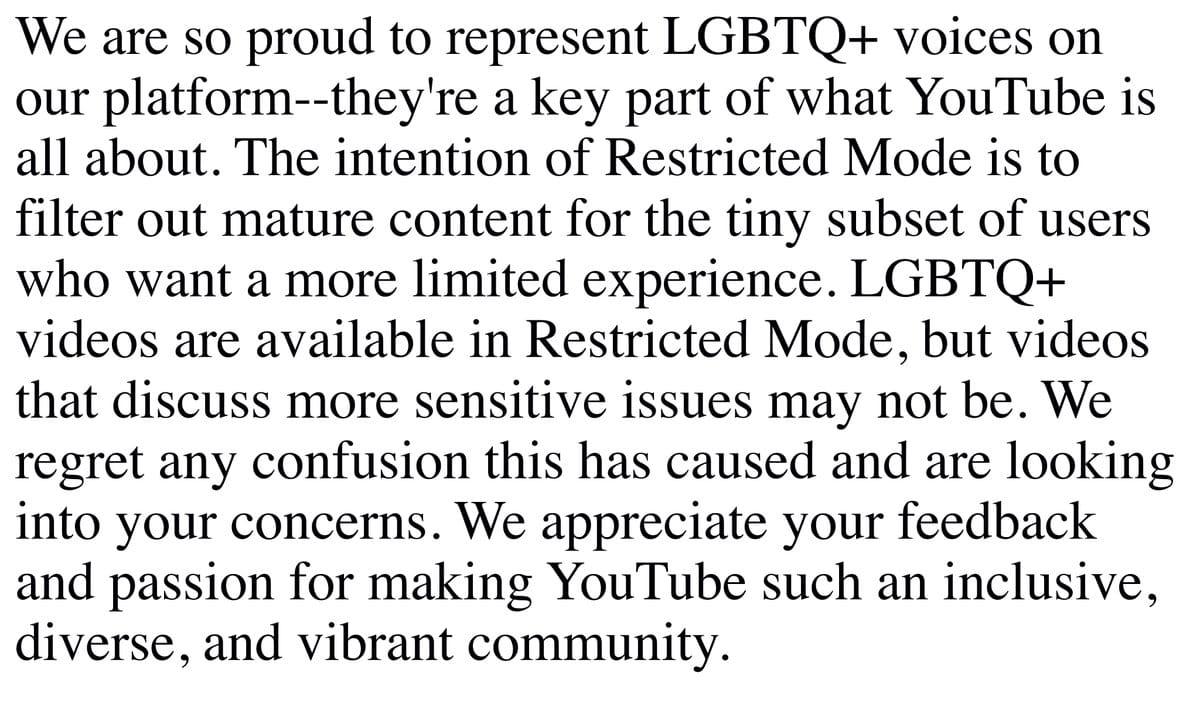 Google LGBT apology