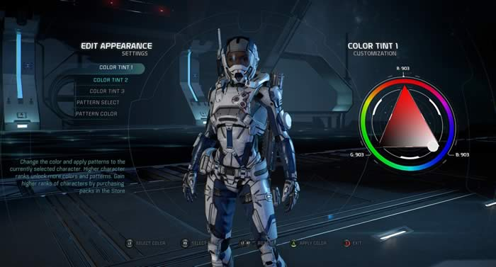 Mass Effect Andromeda personalization