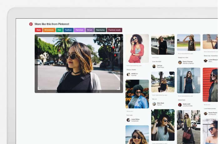 Pinterest visual search
