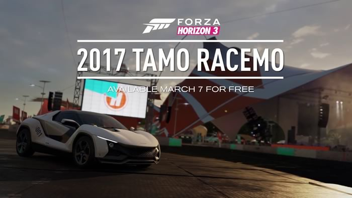 Forza Horizon 3 gives TAMO Racemo