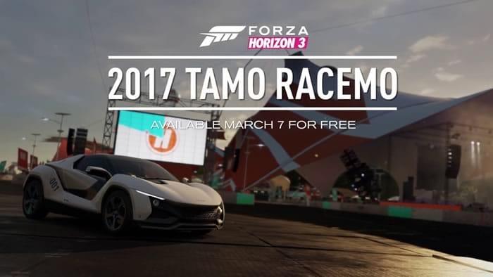 Forza Horizon 3 gives TAMO Racemo
