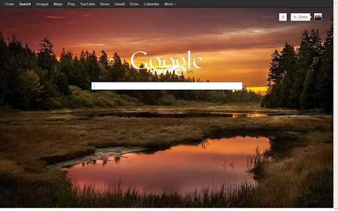 Background Image for Google Homepage
