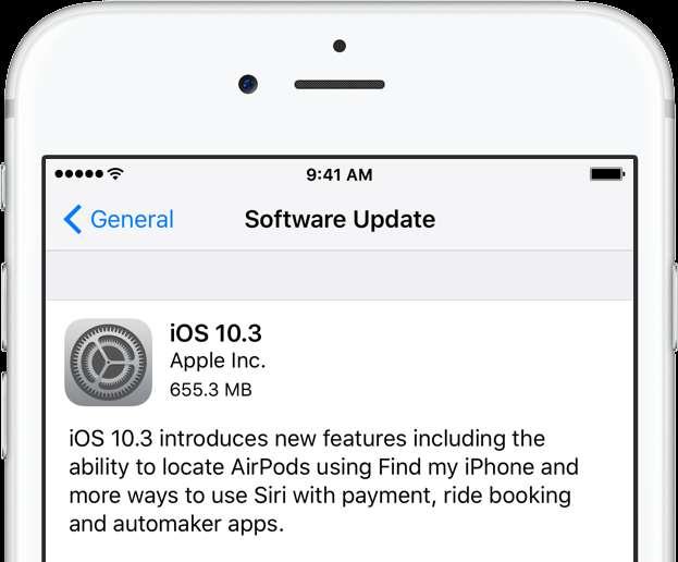 ios 10.3 new update