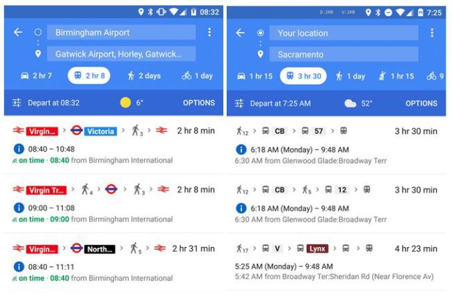 Google Maps Adds Real-Time Location Sharing, Including Trip Progress