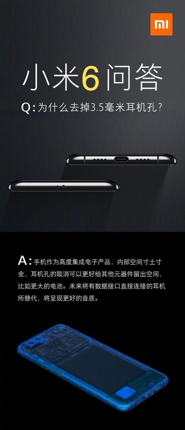 Xiaomi Mi 6 3.5mm-Audio-Jack