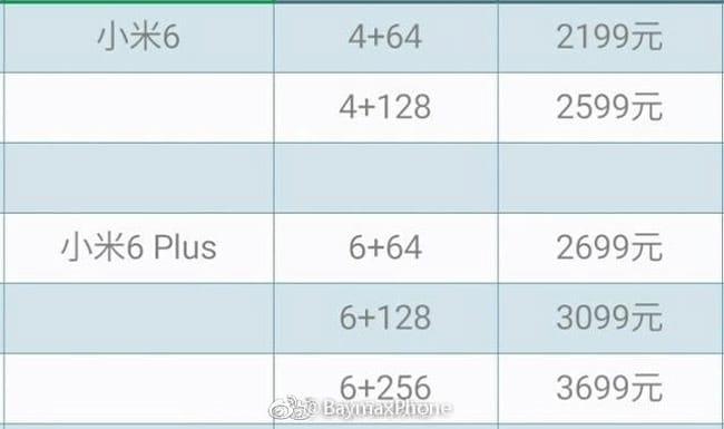 Xiaomi-Mi6-price-list