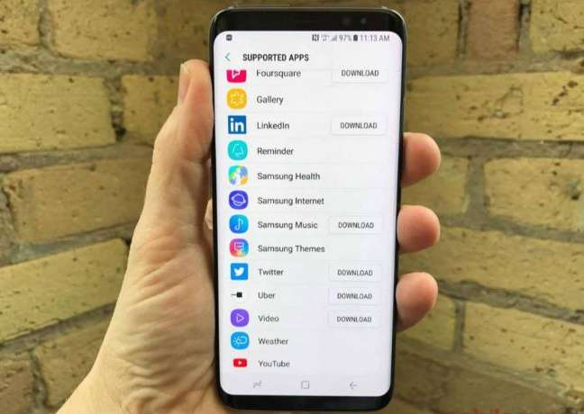 Bixby compatible apps list 1