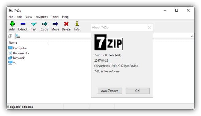 7 zip 17 beta
