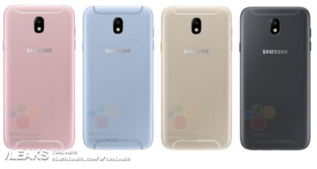 Samsung Galaxy J5 Back and Colors