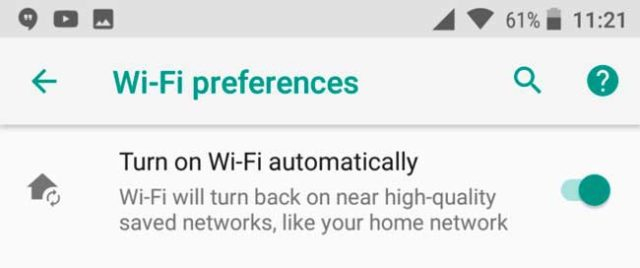 wifi android o