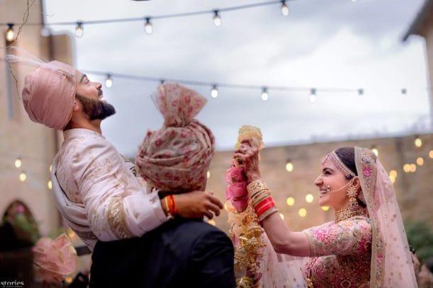 Virat and Anushka enjoying Marriage Photos