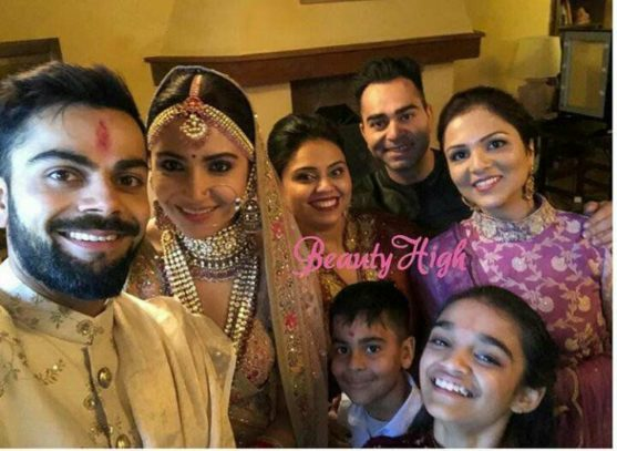 Virat and Anushka with their family