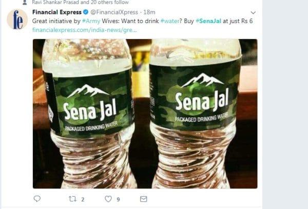 Financial Express News on Sena Jal