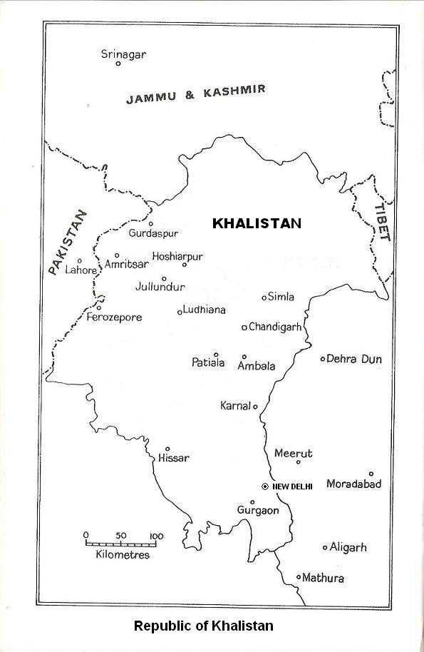 Khalistan Movement Map