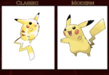 classic and modern pokemon