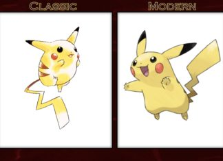 classic and modern pokemon