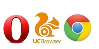 comparision in uc,opera and chrome