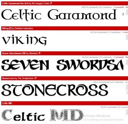 Gothic Fonts Dafont image 2