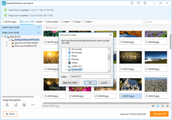 Recover Deleted Files with EaseUS Recovery Wizard Free 2