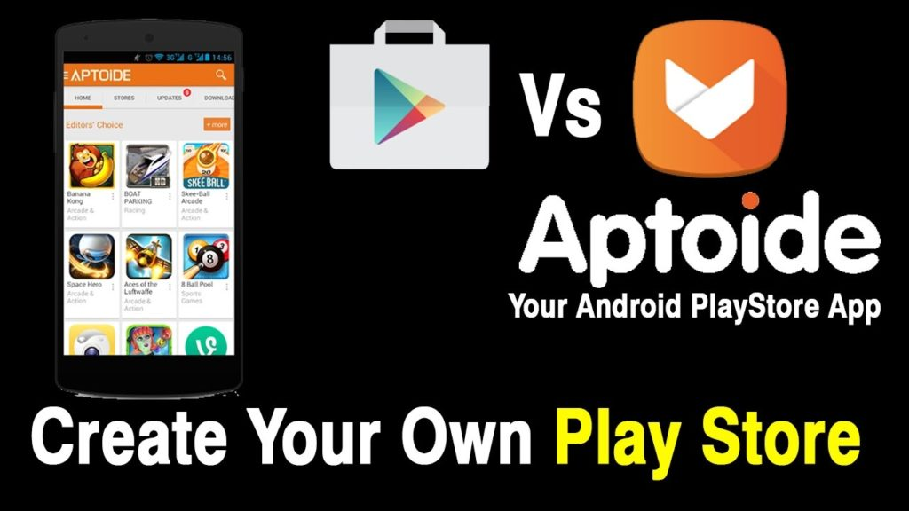 Aptoide vs 9Apps vs Google Play Store: Comparison 1