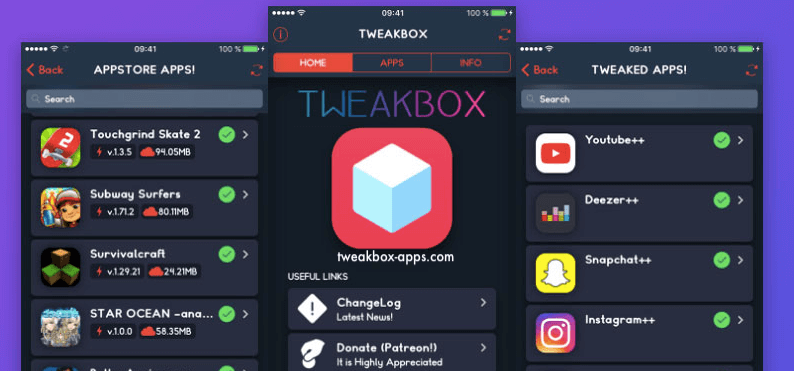 tweakbox on iPhone