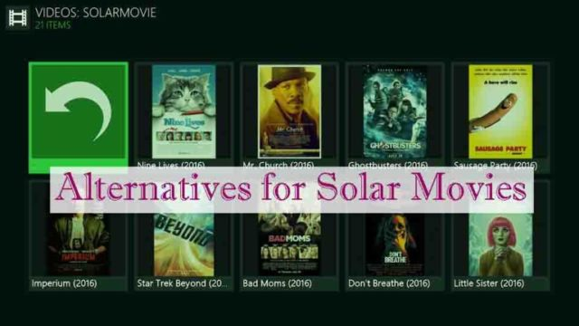 Solarmovie alternatives to watch free movies and TV shows