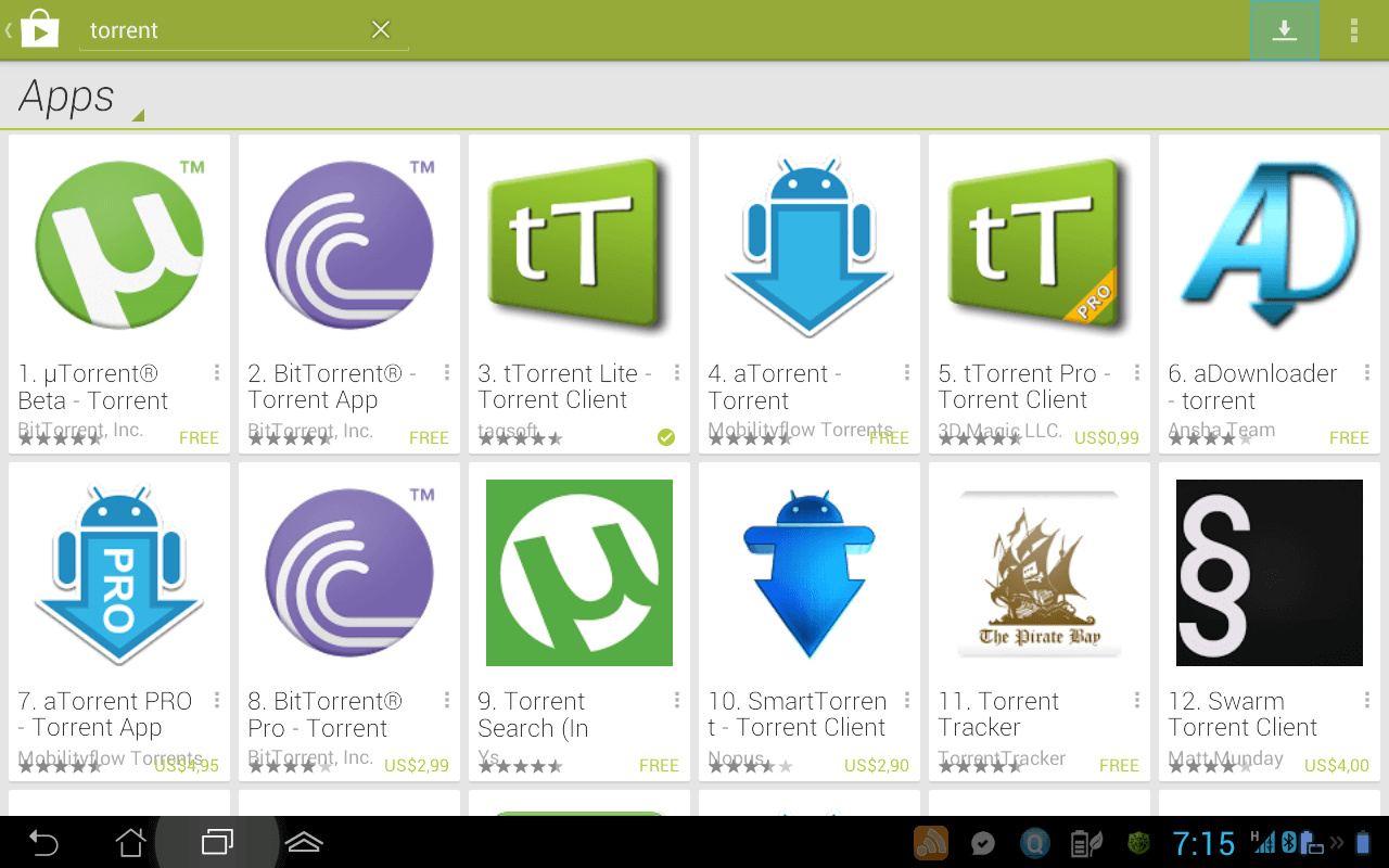good torrent download for android