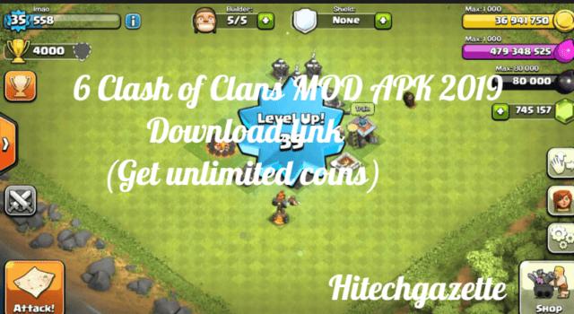 6 Clash of Clans MOD APK 2019 Download link (Get unlimited