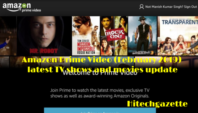 Amazon Prime upcoming TV shows and movies