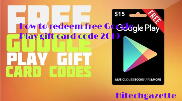 Free Google Play Gift Card and codes 2019
