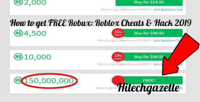 How To Get Free Robux Roblox Cheats Hack 2019 Hi Tech Gazette