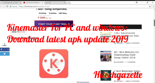 Kinemaster For PC and windows: Download latest apk update