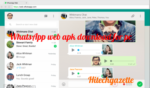 How to download and install the Whatsapp Web apk on windows 8.1, 7, 8