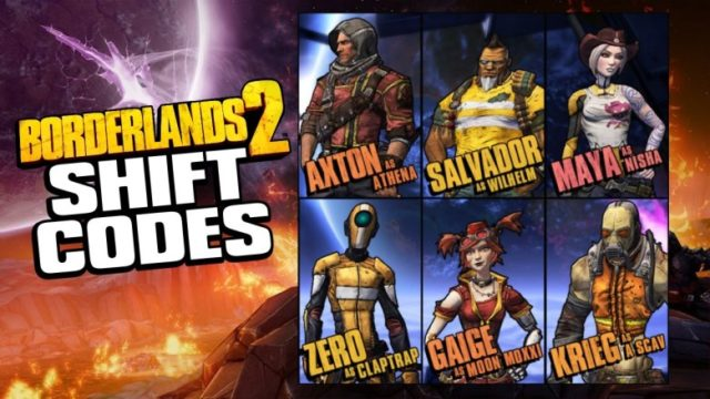 Latest Borderlands 2 Shift Codes 2018-19